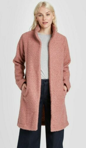 A New Day Women/'s Long Sleeve Textured Open-Front Cardigan Blush S
