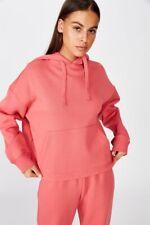 Factorie Womens Relaxed Hoodie Fleece Tops  In  Red