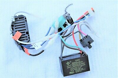 hunter ceiling fan parts wiring harness(capacitor rev sw power switch limiter) ebay red wire hunter ceiling fan wiring diagram hunter fan wiring colors uptodate