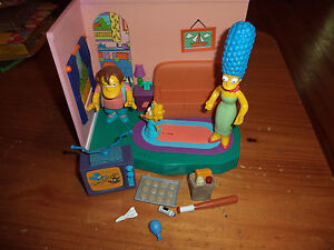 World Of Springfield Interactive Playset Simpsons Living Room Marge Maggie Nelso Ebay