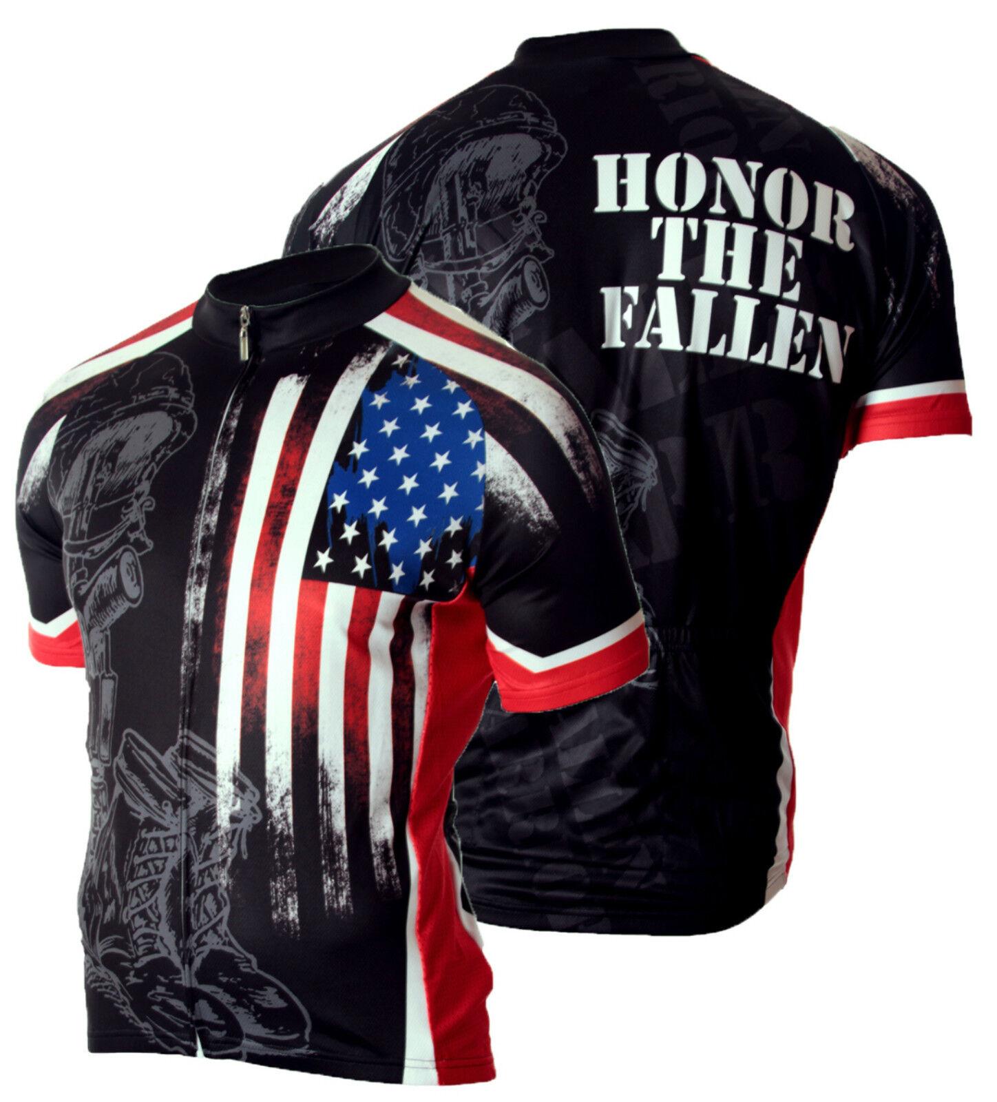Military Fallen Warrior Mens Cycling Jersey Bike 83 Sportswear USMC Army Navy