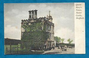 C1910s-PC-QUEEN-MARY-039-S-TOWER-MANOR-CASTLE-SHEFFIELD-GLITTER-HIGHLIGHTS