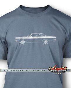 1969-Plymouth-CORRECAMINOS-Coupe-Camiseta-para-hombre-Varios-Colores-amp-Tallas