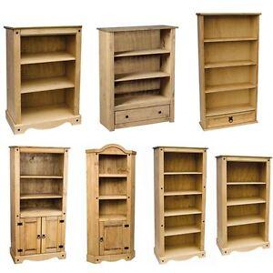 Panana Corona Tall Bookcase Unit Solid Pine Wood Bookshelf Storage Shelf Unit Organiser Cabinet Rack Holder Display Unit with Doors and Shelves for Living Room