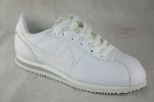YOUTH-NIKE-LEATHER-CORTEZ-GS-153028-110-WHITE-WHITE-SILVER