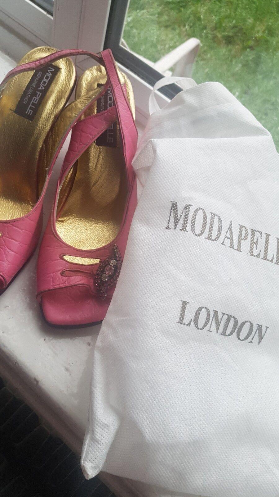 Moda Pelle Rosa Rosa Rosa leather sandals, 6 328498