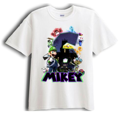 Birthday T-Shirt Party Favor Luigi/'s Mansion Personalized