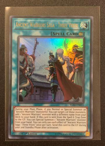 IGAS-EN055 Ancient Warriors Saga Three Visits Ultra Rare 1st Edition