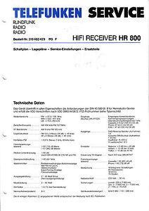 Details about Service Manual Manual for Telefunken Hr 800