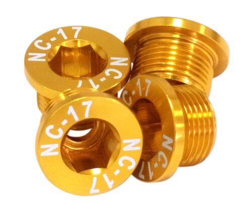 NC-17 Kettenblattschraube 4 Loch M10 für Sram gold
