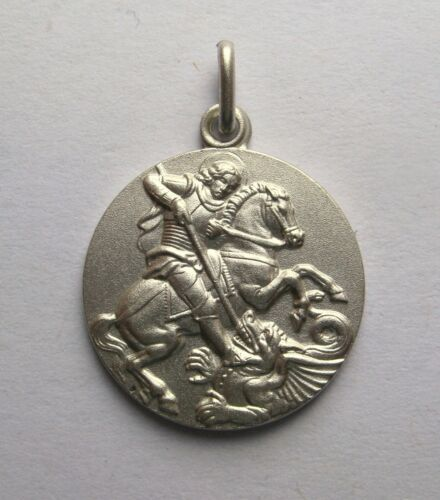 Sterling Silver Double sided St George pendant 4.1g