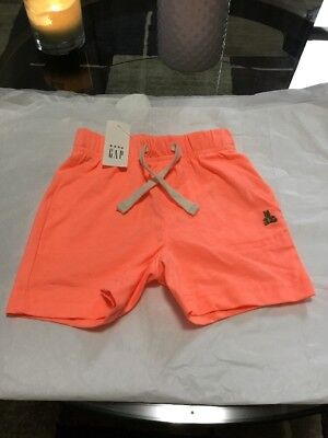 NWT BABY GAP Boys Orange Pull On Shorts Size 6-12 Months
