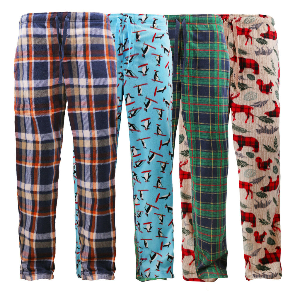 Men's Super Soft Drawstring Sleep Pants Flannel Fleece Christmas Pajama Bottoms  | eBay