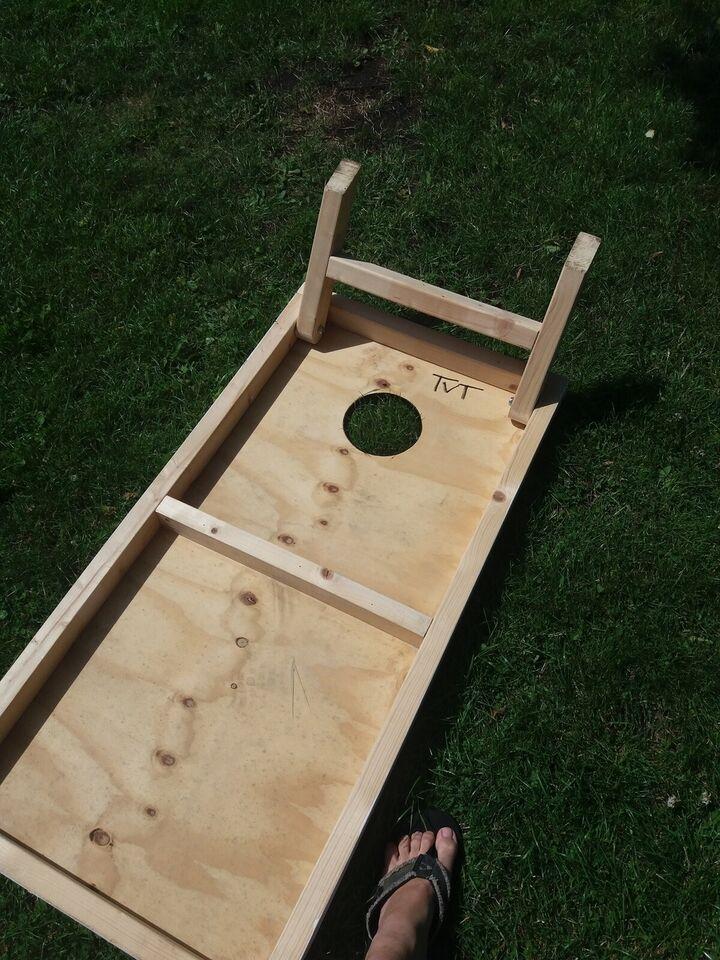 Cornhole spil inklusiv 12 poser, Cornhole , udendørsspil