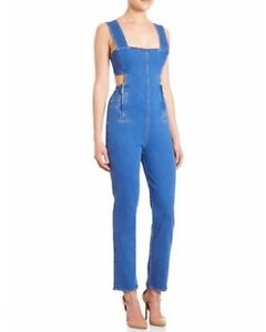 e4da4e40593 NWT Kendall + Kylie Cut Out Stretchy Denim Jumpsuit Romper Overall ...