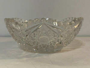 Antique-American-Brilliant-Period-ABP-Cut-Glass-Bowl
