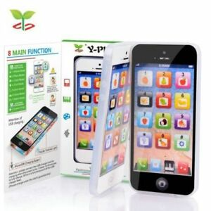 Kids-Toy-Phone-Toy-Phone-New-Educational-English-Learning-Mobile-Black-White