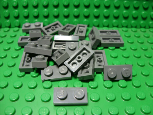 ** 25 CT LOT **  Lego NEW dark bluish gray 1 x 2 plate pieces   Lot of 25