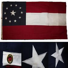 1.5x2.9m Bestickt Genäht USA Amerikanischer 600D Nylon Schatulle Flagge