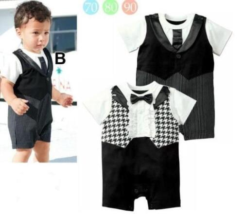 BNWT Baby Tuxedo Romper Playsuit dinner smart wedding 1st birthday outfit 0-18m