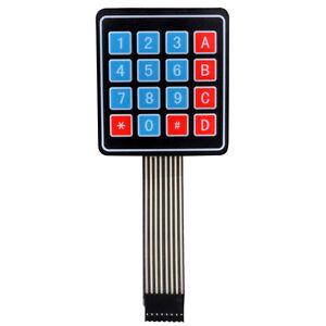 New 4x4 16 Key Matrix Membrane Switch Keypad Keyboard Super Slim