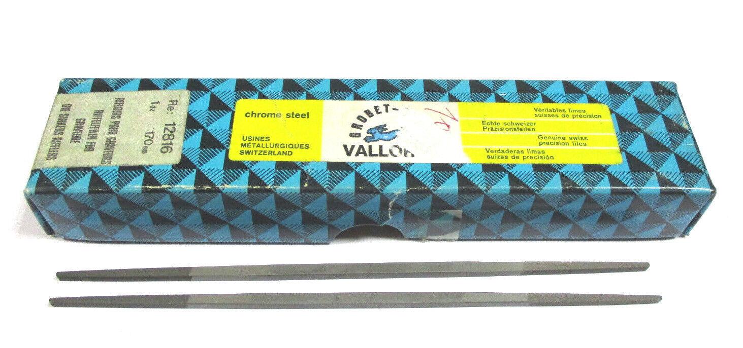 12 GROBET SWISS VALLORBE Precision riffelfeilen L=170 SH-2 nr.12816 NEW H16208
