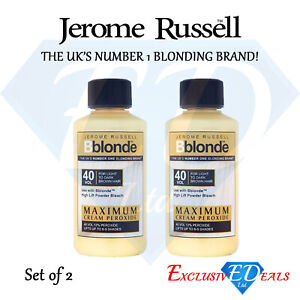 2-x-75ml-Jerome-Russell-Bblonde-Cream-Peroxide-Maximum-Lift-40VOL-amp-12-Peroxide