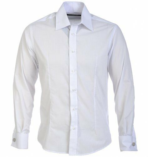 Guide London Puño Doble Ajustado  Manga Larga Camisa blancoa  diseño único