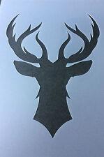 Stag Deer Rendeer head  A4 Mylar Reusable Stencil Airbrush Painting Art Craft