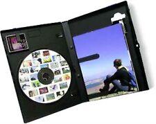 100 FOTO DISCO DVD CASE con HOLDER per Memory Card fotografie INTARSIO NUOVA COVER