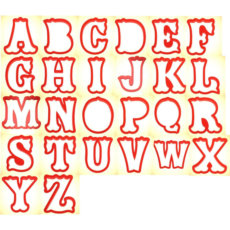 Alphabet Cookie Cutter 26 pièces set 4 in (environ 10.16 cm) PC0403-CookieCutter.Com - Usa Made