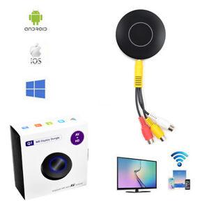 HDMI AV RCA TV Stick WiFi mirror screen Dongle Receiver DLNA Airplay Miracast