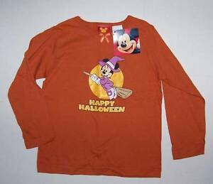 Disney-Minnie-Mouse-witch-on-broom-Halloween-shirt-size-5T