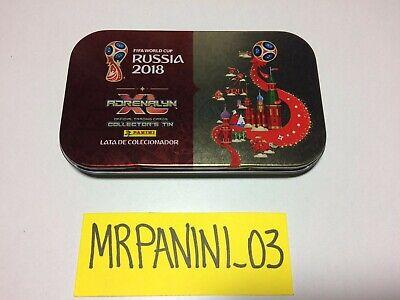 Vuoto//Empty SAINT PETERSBURG TIN BOX Small WC RUSSIA 2018 Panini Adrenalyn
