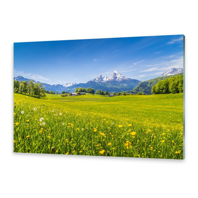 Vetro acrilico immagini Muro Immagine da plexiglas ® immagine Alpi prati
