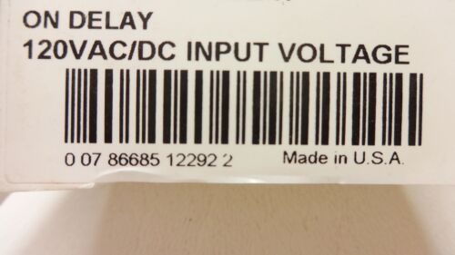 NIB Eaton TMR5N05120 Time Delay Relay 120 VAC//DC Input Voltage