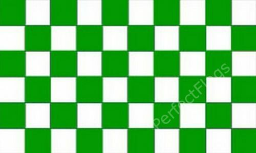 5x3 Feet CHEQUERED GREEN WHITE Size 3x2 CHECKERED RACING AND SPORTS FLAGS