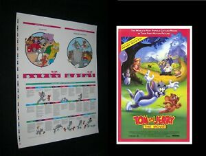 ORIGINAL-1992-Tom-amp-Jerry-The-Movie-History-Highlights-PRINTER-TEST-PROOF-POSTER