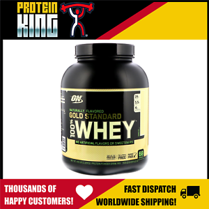 OPTIMUM 100% NATURAL WHEY 2.3KG VANILLA GOLD STANDARD PROTEIN on 5lb 5lbs