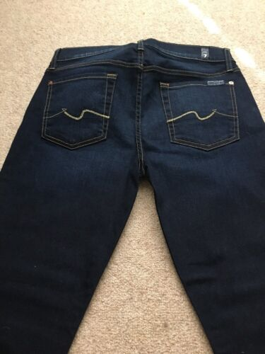 7 For All Mankind Dark Cropped Gwenevere Skinny Jeans Size 30 NWT Retail $189