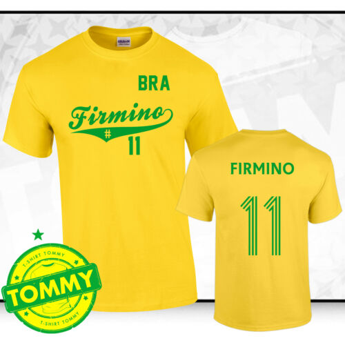 Firmino Liverpool Brazil FC T-Shirt Firmino tshirt Brazil tshirt #11
