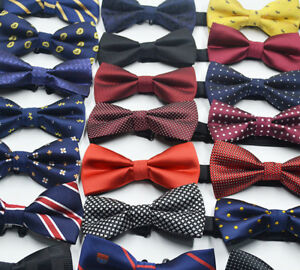 Men-Fashion-Adjustable-Satin-Tuxedo-Classic-Novelty-Wedding-Bow-Tie-Necktie