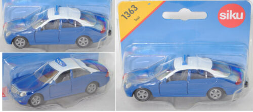 Siku Super 1363 Mercedes E 500 Greek Thessaloniki Taxi blau//weiß Felgen offen