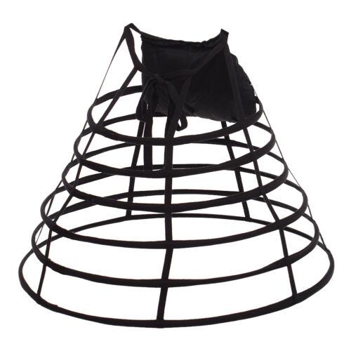 Renaissance Gown Costume Dress Bustle Crinoline Hoop Bustle Skirt Cage Pannier