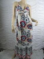Next Light Blue Multi Floral Print Spaghetti Strapped Maxi Dress Size 6