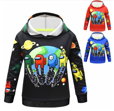 Buwict Among Us Pullover Hoodie and Sweatpants Suit for Boys Girls 2 Piece Outfit Fashion Sweatshirt Set