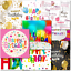 thumbnail 6 - Doodlecards Pack of 10 Square Contempory Mixed Birthday Cards