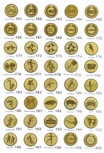 E138 37-40 cm inkl Gravur und Emblem 3er Serie Pokale in Silber//rot