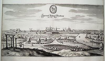Nienburg An Der Weser Niedersachsen Merian Kupferstich Erstausgabe 1654