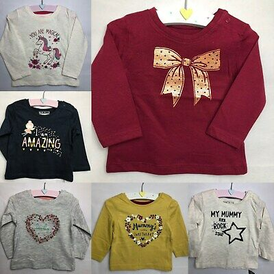 2 x Baby Boy or Girl T-Shirts/_Age 9-12 mths/_xmas-Toddler clothes-childs top-BNWT
